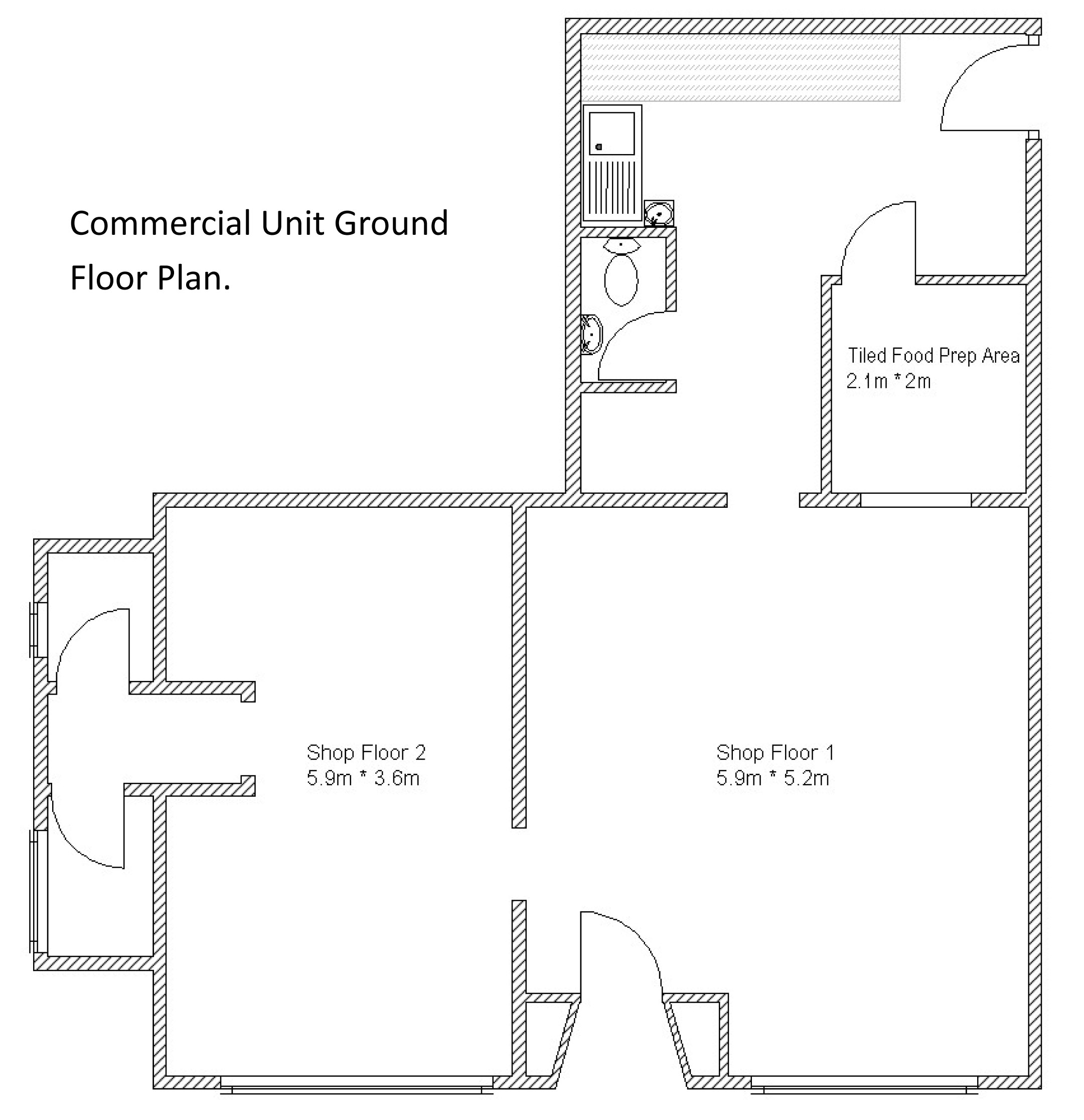 Small commercial unit sark estate agents for Floor plans for estate agents
